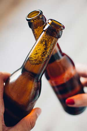 beer bottle toast
