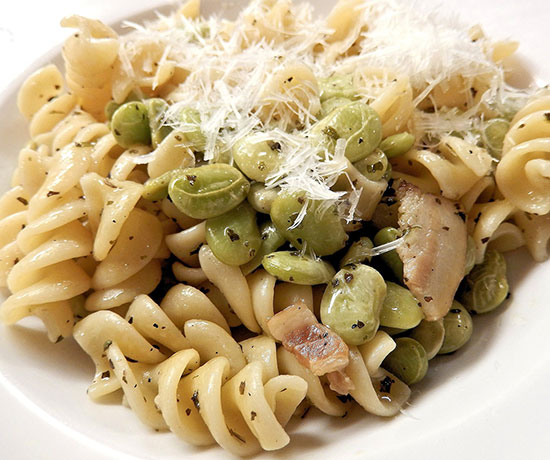 healthy ingredient lima beans, with pasta