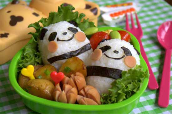 panda shaped food for kids