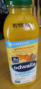 Spiced Pumpkin Odwalla Almondmilk Shake