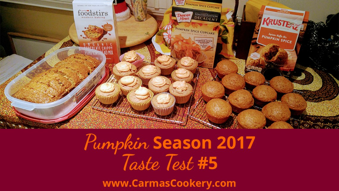 Pumpkin Season 2017 Taste Test #5