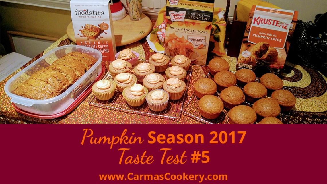 Pumpkin Season 2017 Taste Test #5
