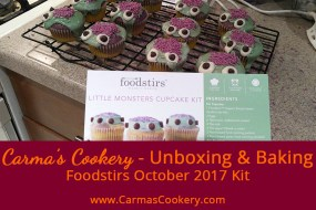 October 2017 Foodstirs Kit - Little Monsters Cupcakes