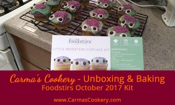 Foodstirs October 2017 Kit - Little Monsters Cupcakes
