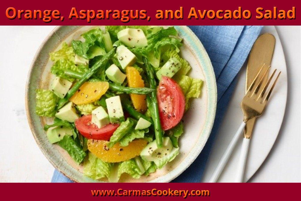 Orange, Asparagus and Avocado Salad