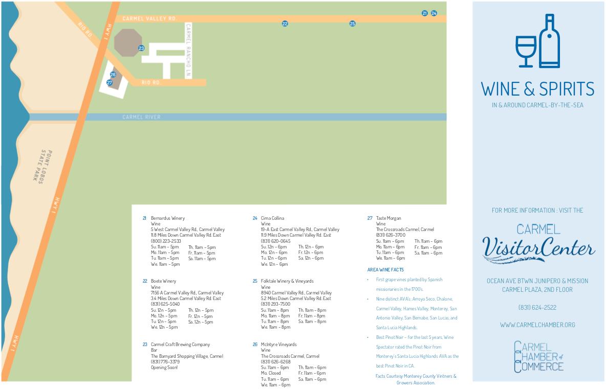 The Crossroads, The Barnyard, Carmel Valley & Big Sur Tasting Rooms