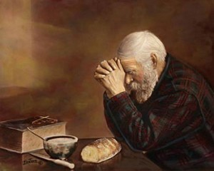 Man Praying Painting