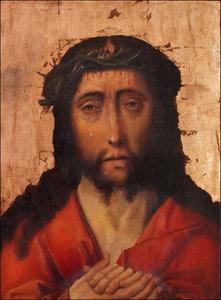 Le Christ couronné d'épines (Dieric Bouts, XVe s