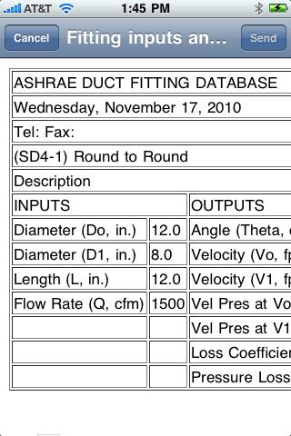 Carmel Software - ASHRAE Duct Fitting Database Help