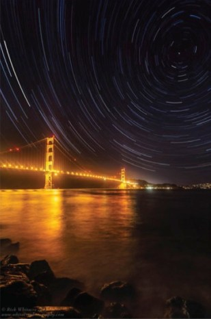 Golden Gate Star Trails by Rick Whitacre