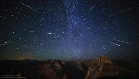Perseid Meteor Shower over Half Dome by Rick Whitacre