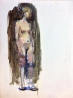 Young Woman Nude Block In 16x12