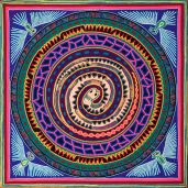 huichol-yarn-painting-ratle-snake-with-eagles