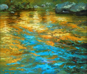 """Illume"" 22×26″ Oil on Canvas (1″ Black Frame) by Rich Brimer"