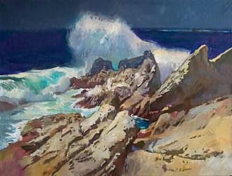 crashing waves pt lobos