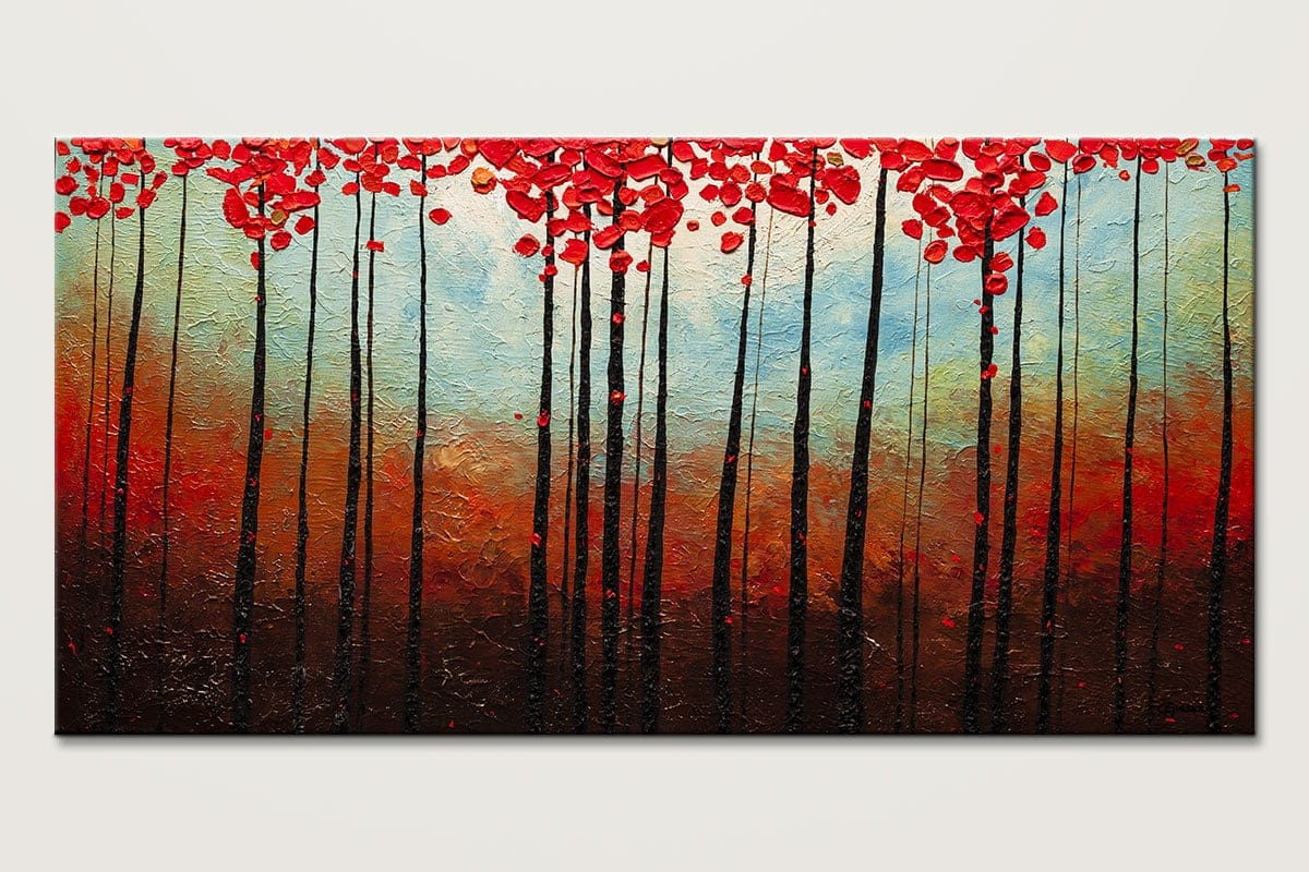 Abstract Art Paintings Gallery - Change of Seasons - Abstract Painting by Carmen Guedez