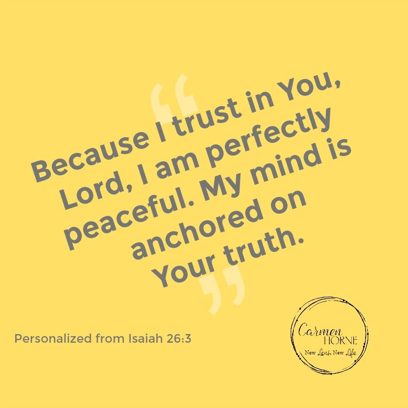 Isaiah 26:3 affirmation