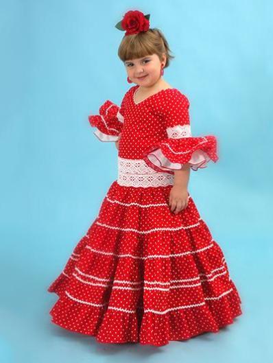 Trajes de flamenca niña - Carmen Latorre fccd08545c2