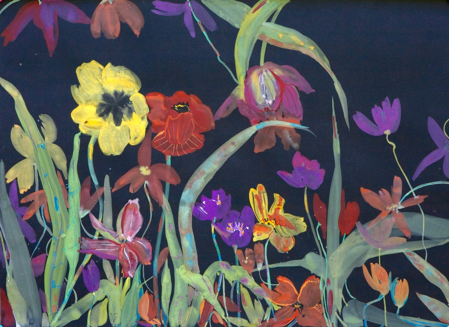 51-Spring-tulips-Gouache-on-paper-22-x-30W