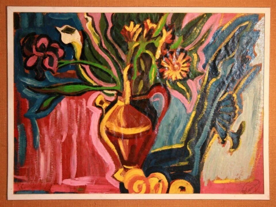 olio su cartoncino - 57 x 40 cm - 1968