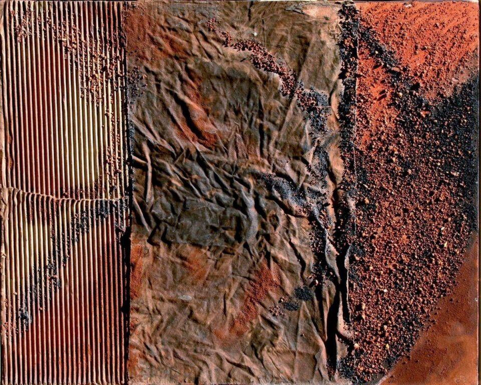 polimaterico su tela  - 80 x 70 cm - 2005