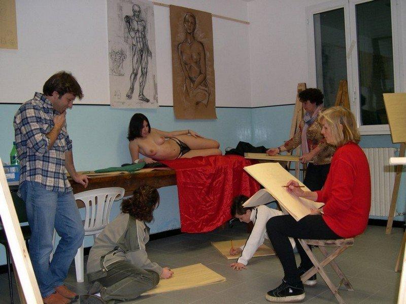 Corso di Nudo e Figura - Castello - Garlenda (SV) - 2006 [PrimoCanale]