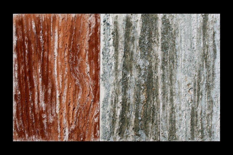 terre, resine naturali e oro su tavola - 90 x 60 cm - 2007