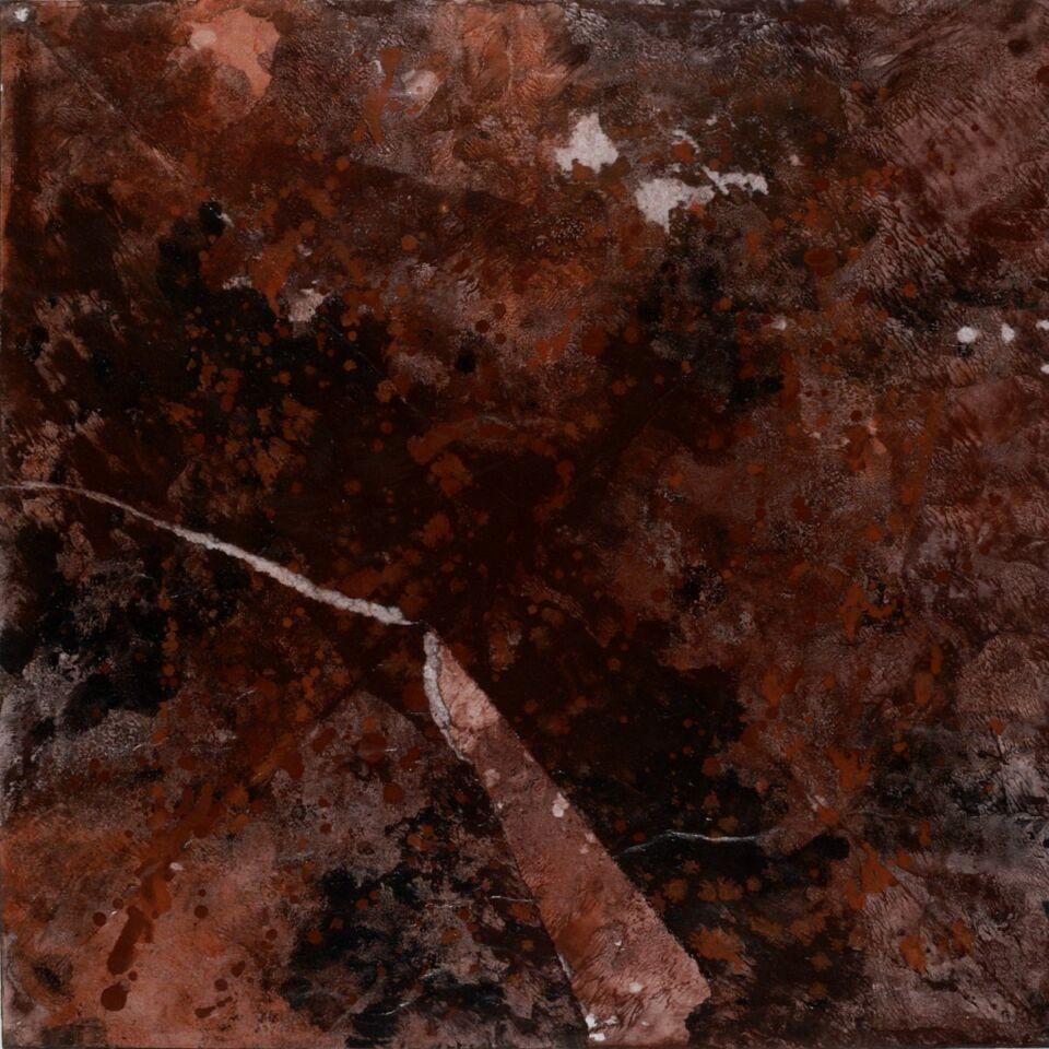 terre e resine naturali su carta - 60 x 60 cm - 2008