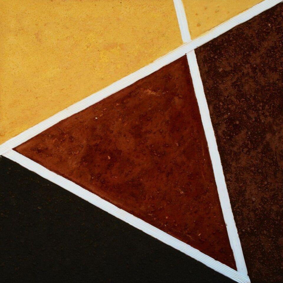terre e resine naturali su tela  - 100 x 100 cm - 2010