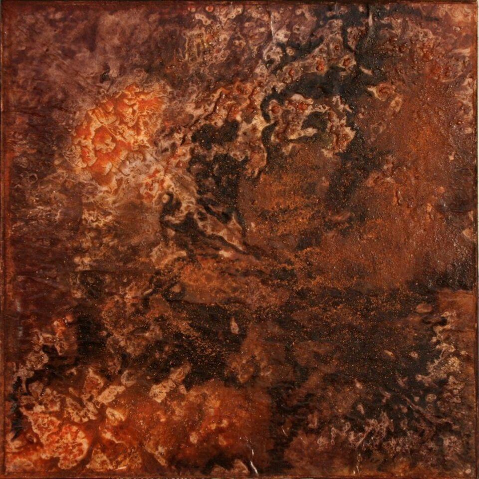 terre e resine naturali su carta su tela - 60 x 60 cm - 2011