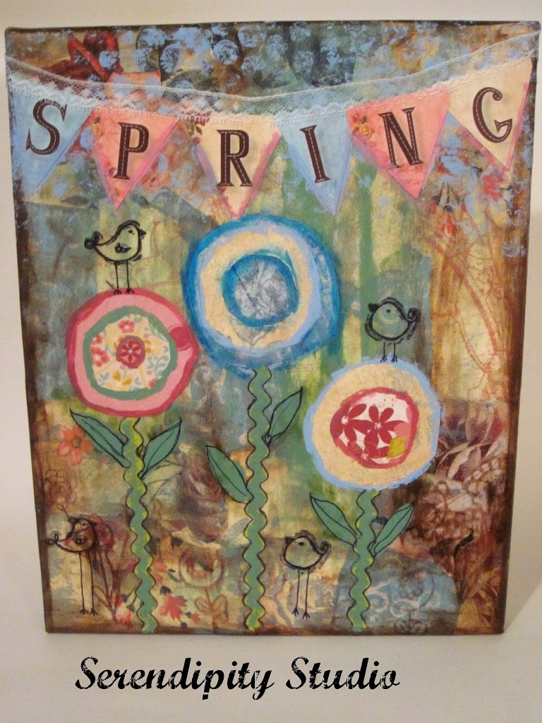How to scrapbook canvas - This Is An Easy Collage To Do And Combining The Right Papers Paint And Trims You Can Get A Wonderful Vintage Inspired Collage Canvas