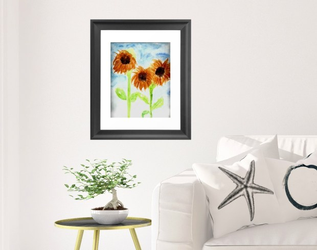 Watercolor Spring Flowers created by Carmen Whitehead Designs