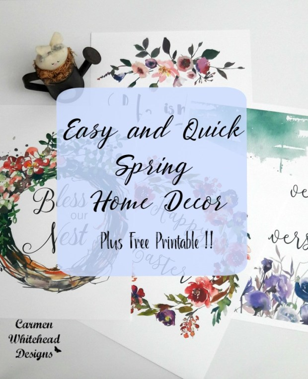 Easy and Quick Spring Home Decor - Plus a Free Printable!
