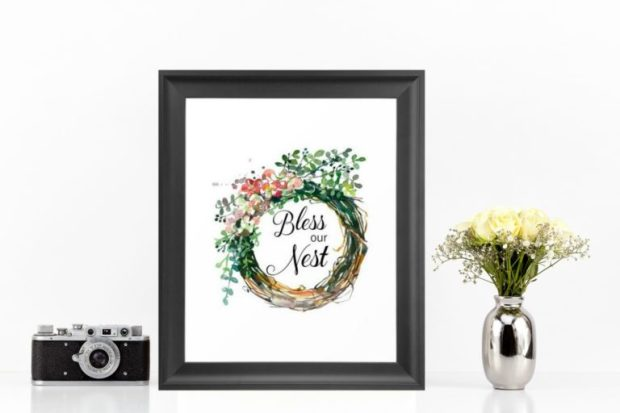 Spring Home Decor with instant digital downloads created by Carmen Whitehead Designs
