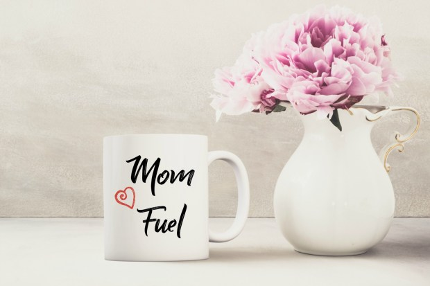 Mom Fuel mug created by The Mug Life Designs Etsy Shop