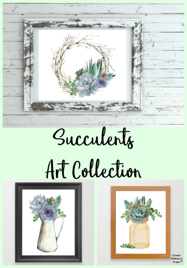 New Succulents Art Collection - Carmen Whitehead Designs