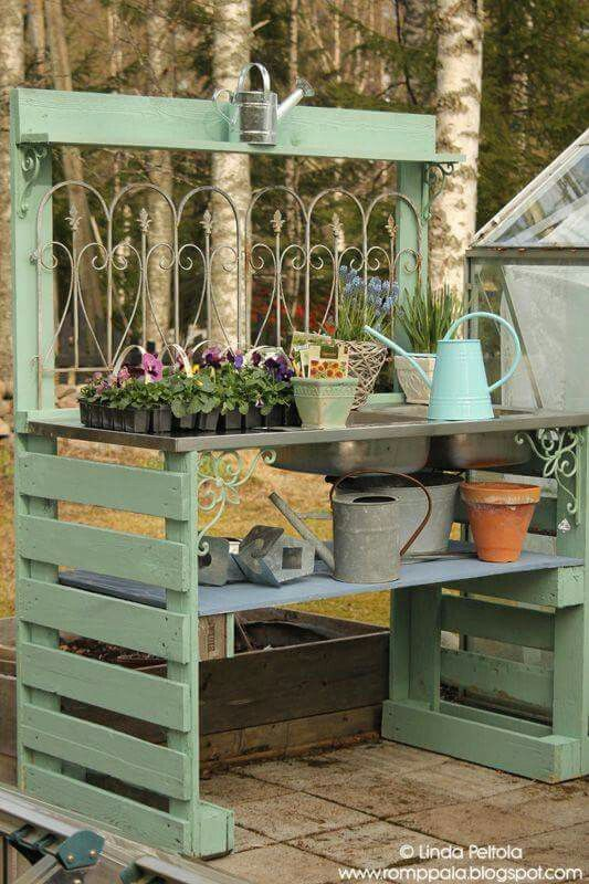 10 Potting Bench Ideas - Carmen Whitehead Designs