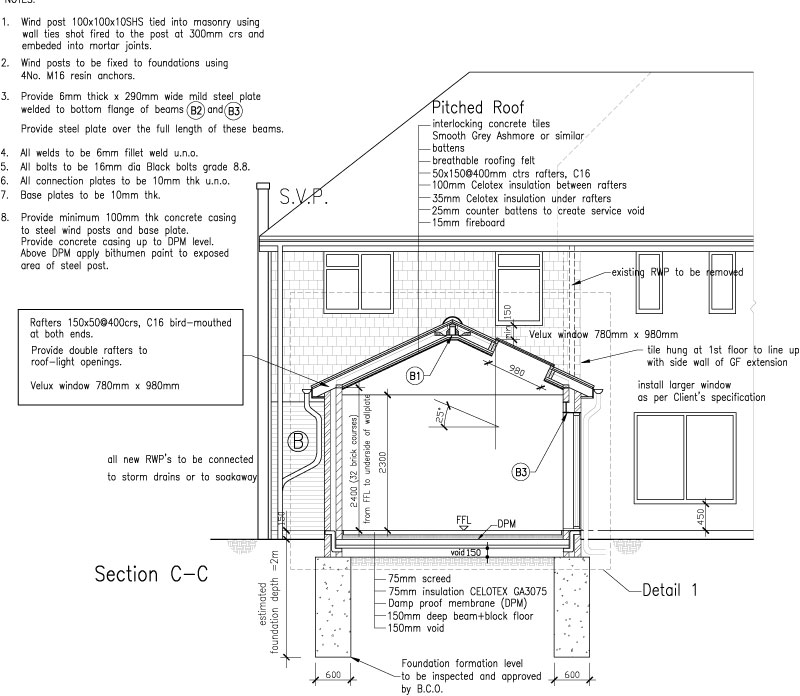 Garage conversion, 1st floor extension and single storey