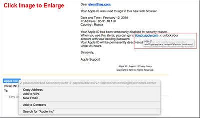 Apple Phishing Email Capture