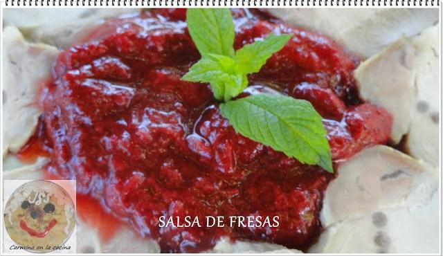 Salsa de fresas para carne o pescado