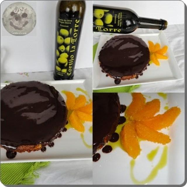 Tarta de almendra y naranja con ganache de chocoaove