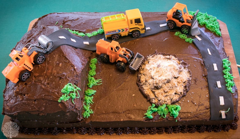Tarta Camiones en la obra