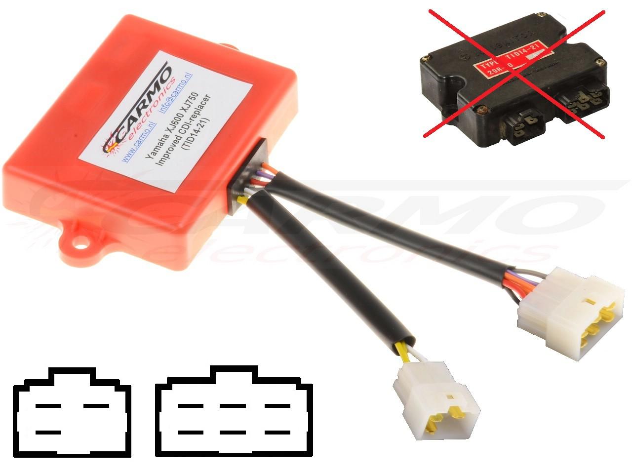 hight resolution of yamaha xj750 xj750f cdi igniter tid14 21 29r 10 xj750 cdi tid14 larger image tci wiring diagram
