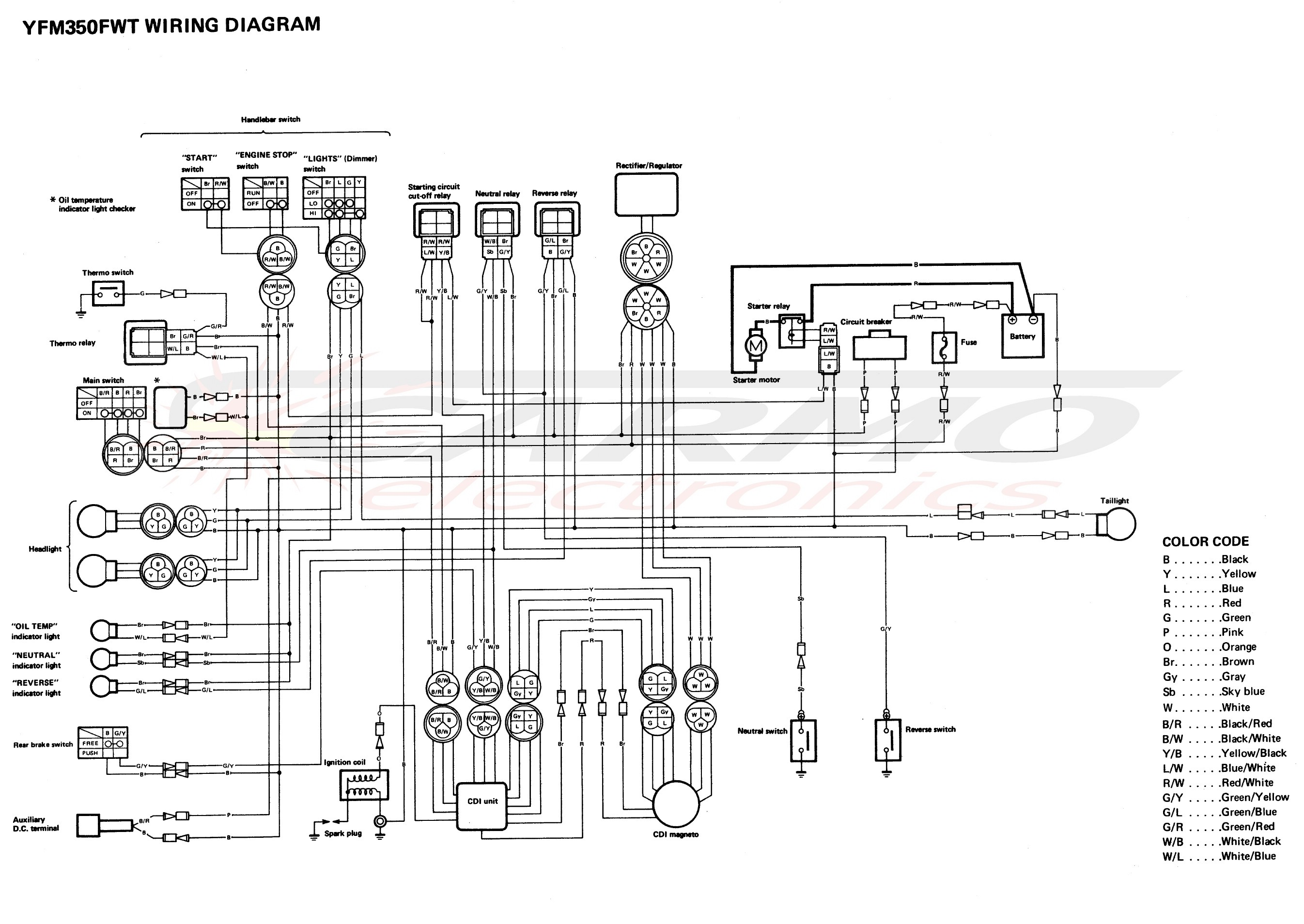 yamaha warrior wiring diagram 72 ford f250 honda 300 fourtrax ignition get free image
