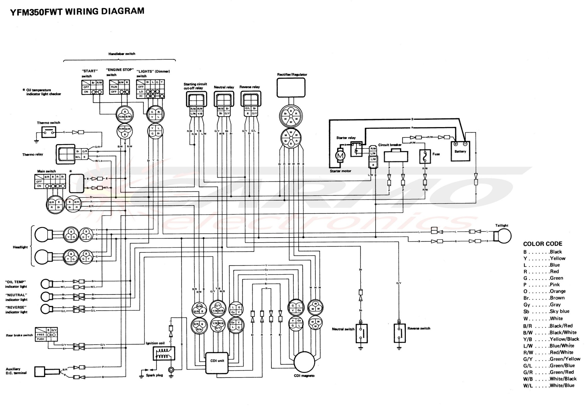 hight resolution of yamaha yfm350 engine wiring diagram 35 wiring diagram 1986 yamaha moto 4 yamaha moto 4 parts