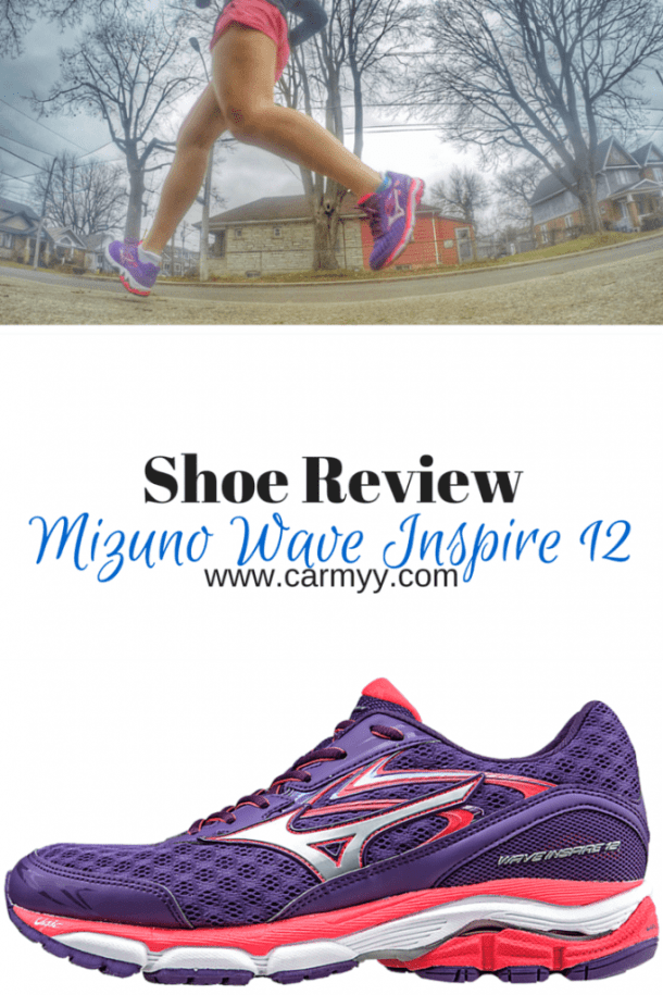 Mizuno Wave Inspire 12 Shoe Review @ www.carmyy.com #mizuno #Shoes #running #fitness