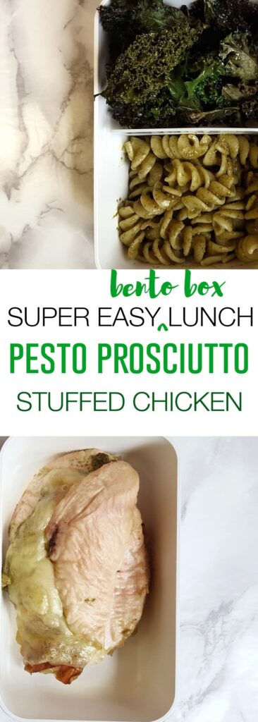 SUPER EASY BENTO BOX LUNCH: Pesto Prosciutto Stuffed Chicken