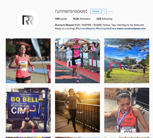 Running Instagram Accounts That Regram
