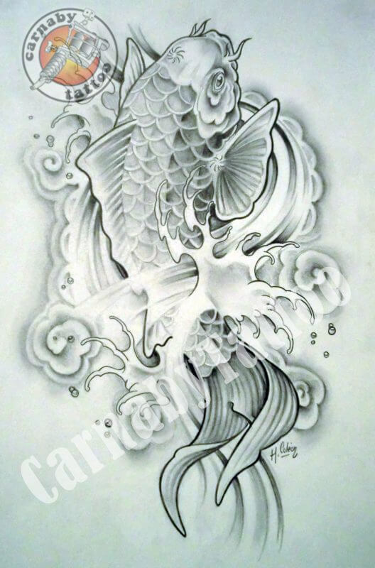 Dessin tatouage dragon excellent modele tatouage japonais - Modele dessin dragon ...