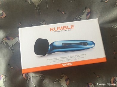 Tantus Rumble in retail packaging.